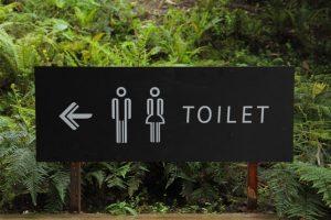 bathroom or restroom in English