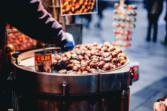 English grammar comparatives, photo of nuts on NYC streets