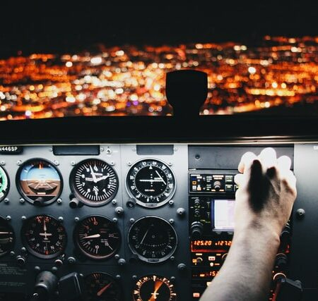 AEE 1604 - How to Take the Reins in an English Conversation Dashboard of Airplane
